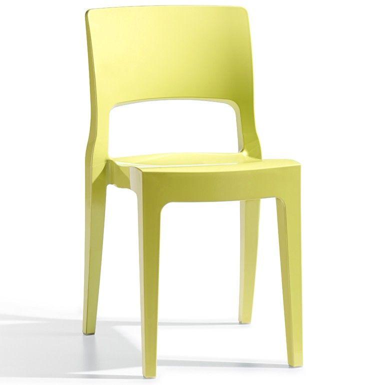Designer Stuhl Gelb Aus Kunststoff Hochglanz Stapelbar Isy Fur 59 EUR