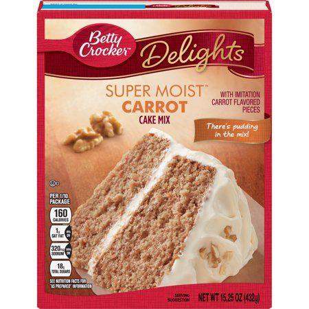 Betty crocker super moist carrot cake mix 1525 oz