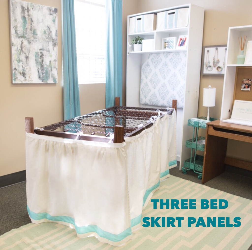 Great Finally A Bed Skirt Designed Especially For A Dorm Bed! Our Bed Skirts Tie  Onto Part 9