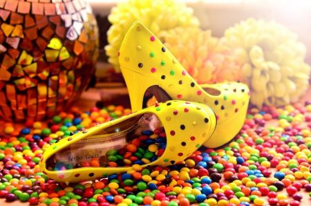 Yellow Candy Shoes Photography Wallpaper Id 1558530 Desktop Nexus Abstract Yellow Candy Candies Shoes Shoes