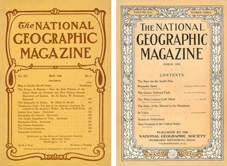 Evolution of the cover: National Geographic | 1890-1979