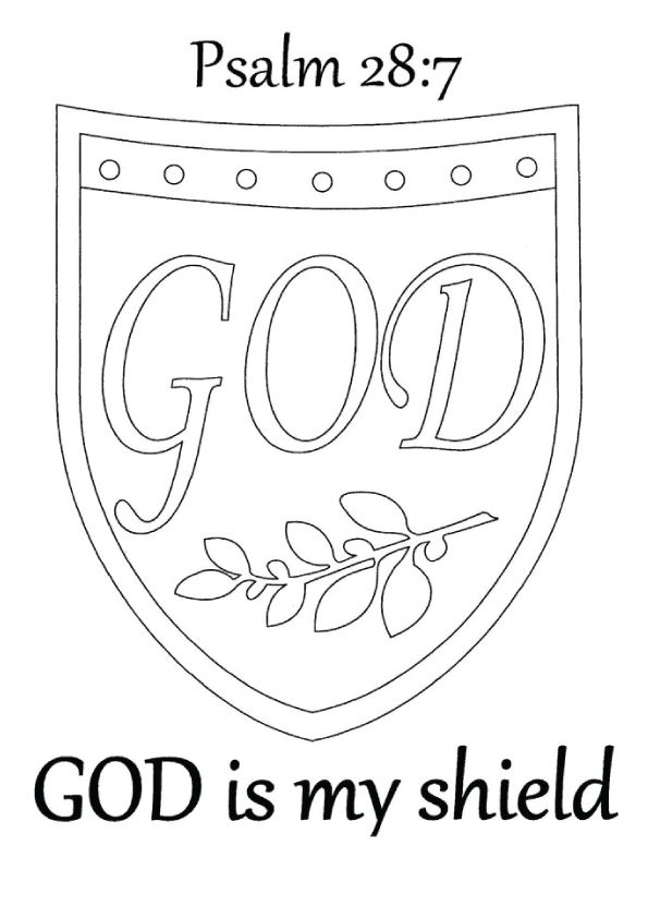 Image Result For Shield Of Faith Coloring Page Shield Of Faith