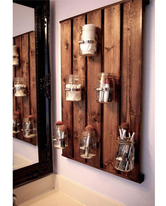 20 diy bathroom storage ideas for small spaces | mason jar
