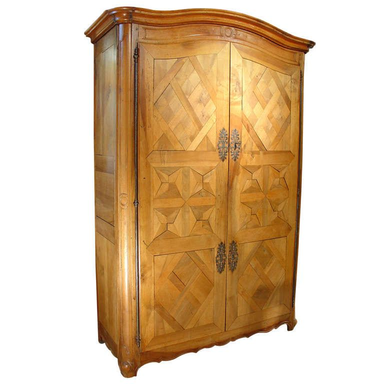 Early 1800u0027s Antique Parquet Armoire  Chateau Bienassis, France | Modern  Wardrobe, Armoires And Furniture Storage