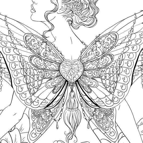 adult coloring page fantasy butterfly line art 1b adult coloring pages colouring pages ve. Black Bedroom Furniture Sets. Home Design Ideas