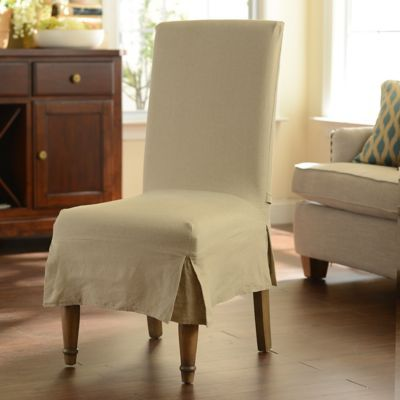 Oatmeal Parsons Chair Slipcover | Kirklands