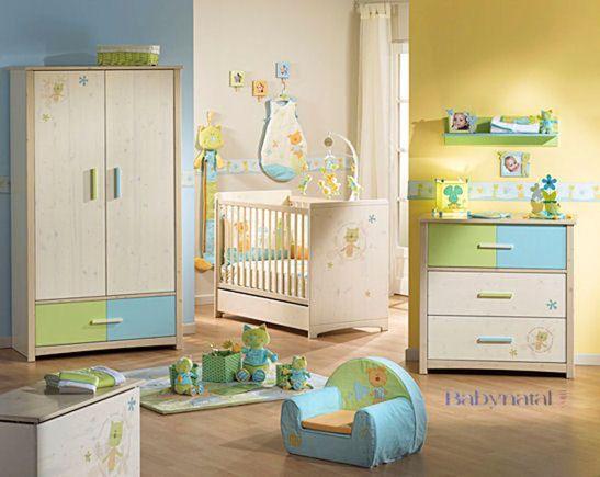 chambre enfant jaune et bleu - Recherche Google | Chambre Bébé ...