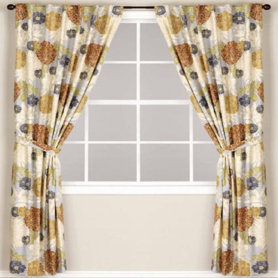 World Market® Mackenzie Lined Rod Pocket/Back Tab Window Curtain Panel    BedBathandBeyond.