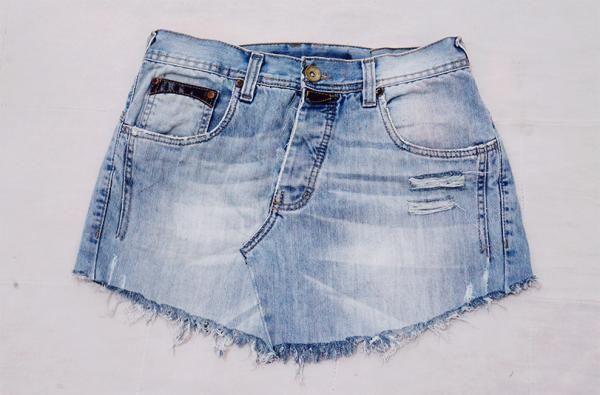 Saia feita a partir de uma calça jeans   Ideias denim, Como