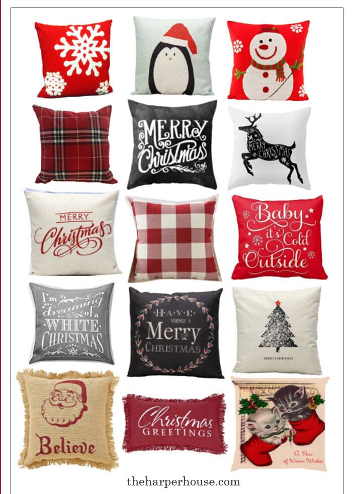 cheap holiday christmas pillows under 10 bucks start your christmas decorating with these super cute affordable christmas pillows from amazon