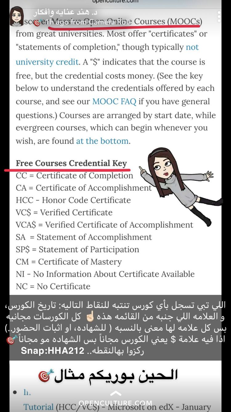 Pin By Asma On خاص خولة Massive Open Online Courses Moocs Learning Courses