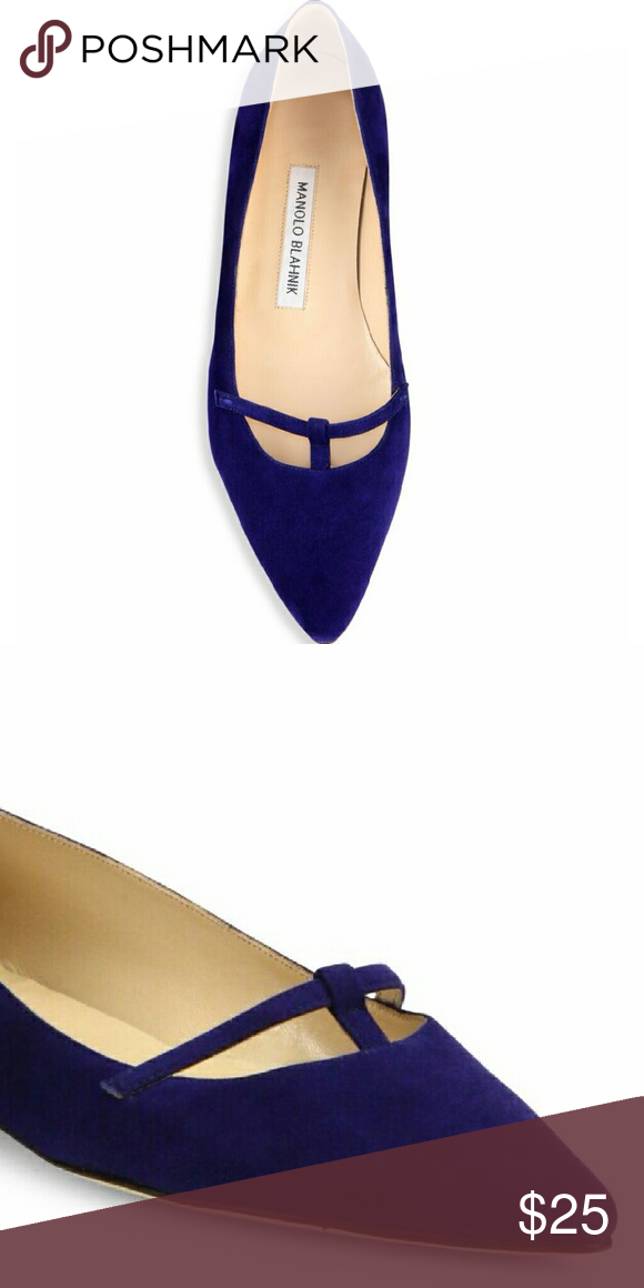 Manolo Blahnik Blue Flats - Preview These will be available soon!  Like, follow and share for updates! Manolo Blahnik Shoes Flats & Loafers