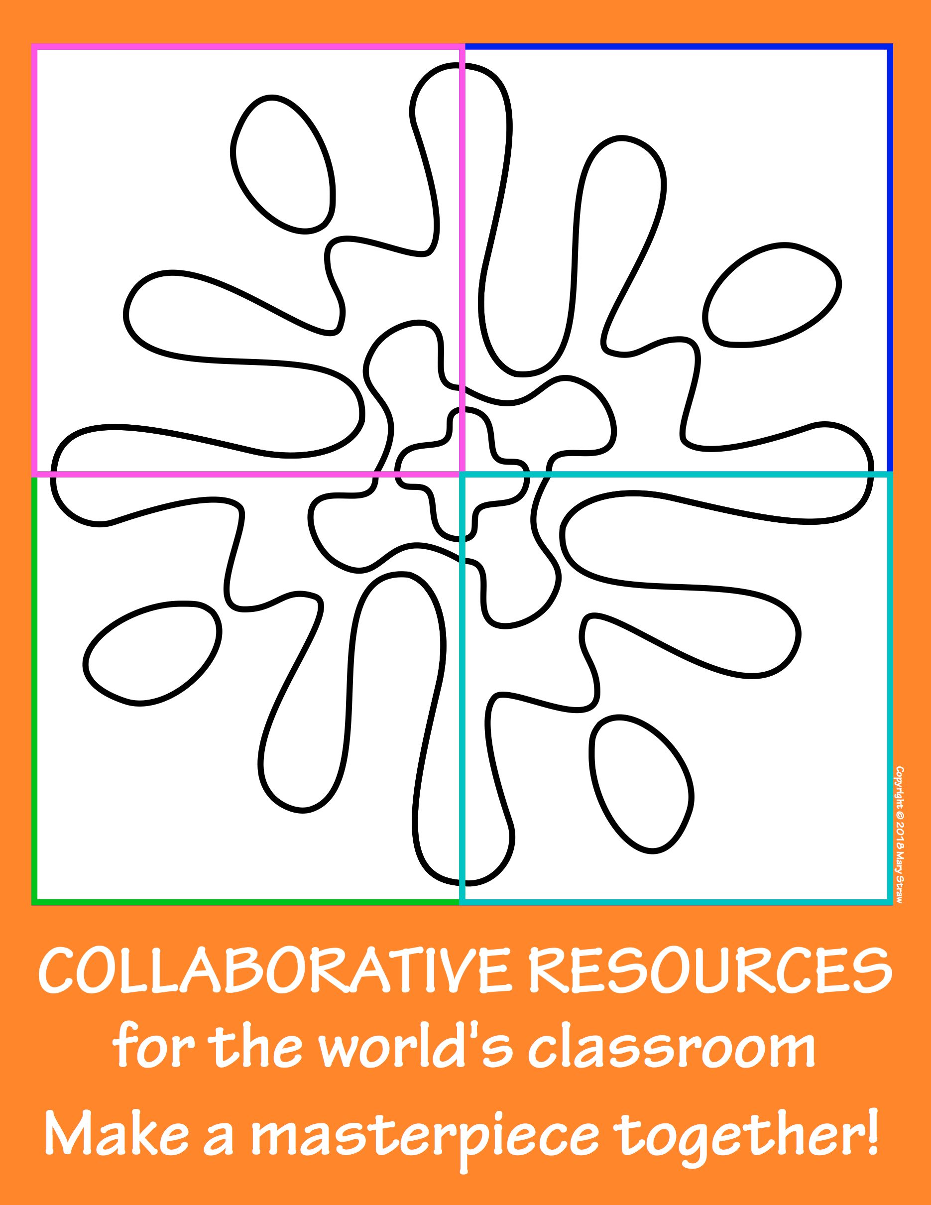 Radial Symmetry 3 Collaborative Activity Coloring Pages