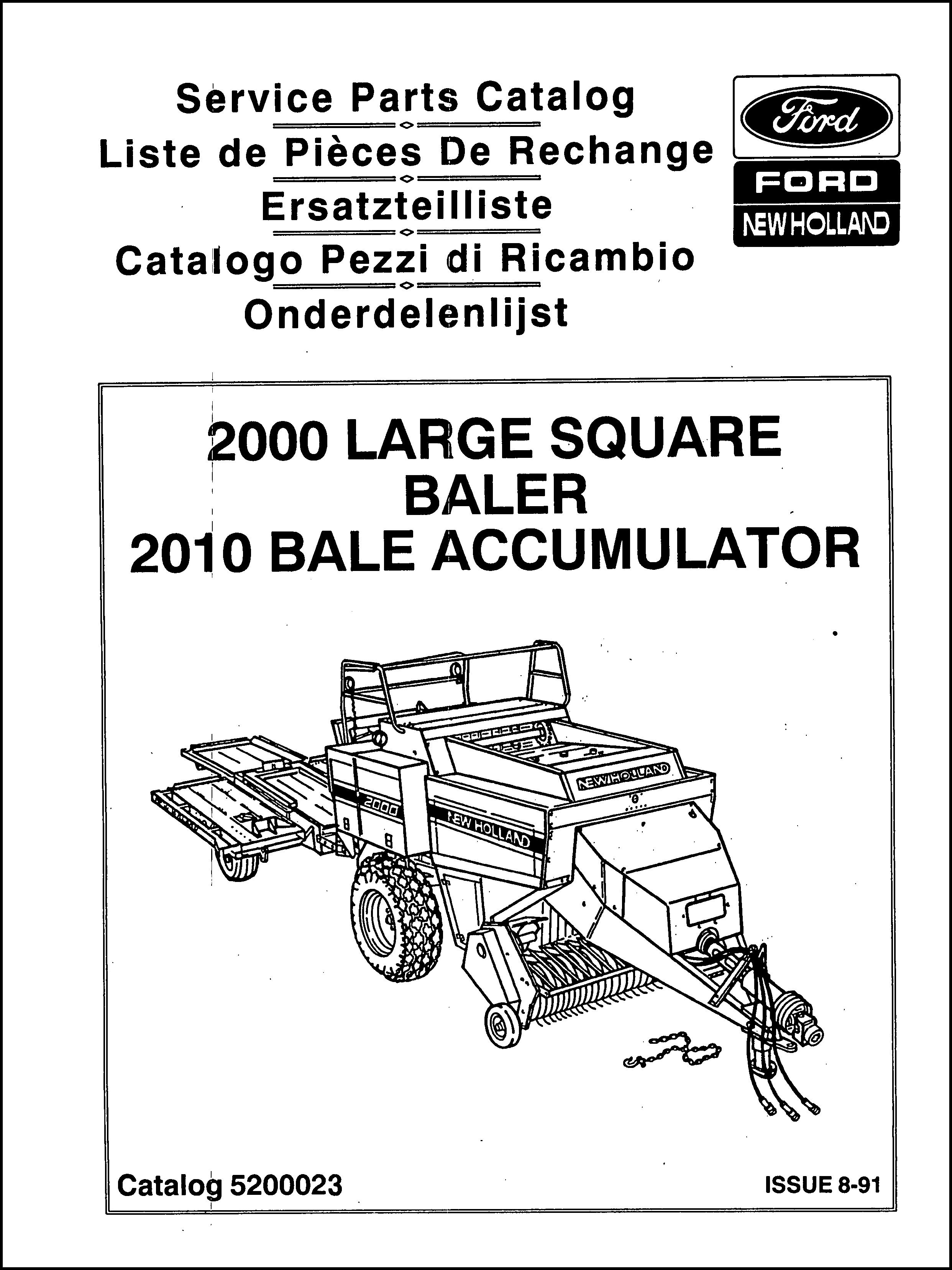 Ford New Holland Parts Manual For Service Big Baler