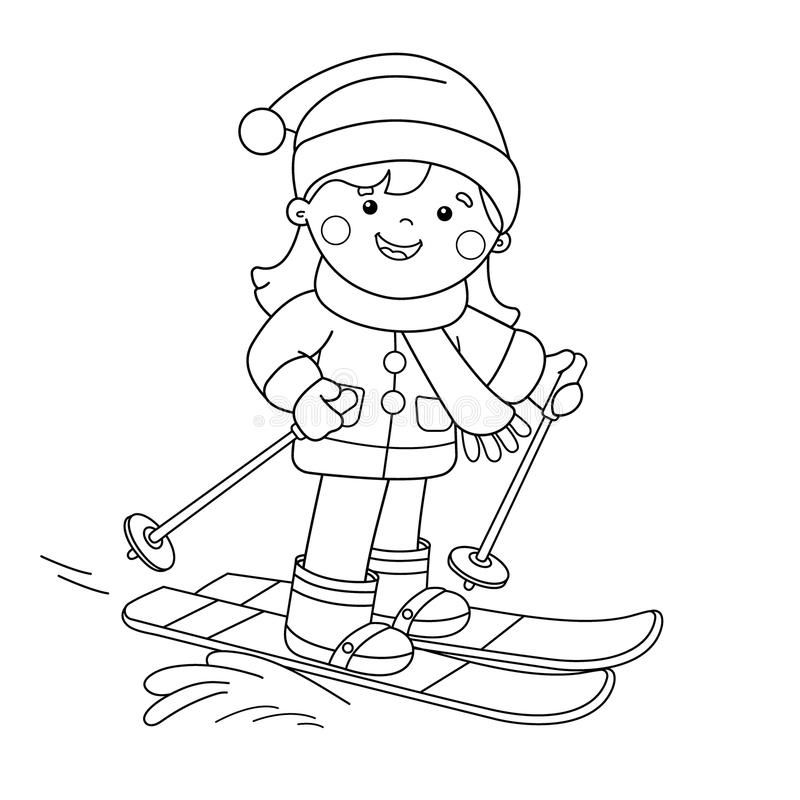 Boy Skiing Coloring Page Tmore Sports Coloring Pages On Hellokids