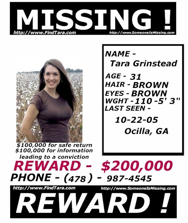 Tara Faye Grinstead Missing - Reward Poster Hunteru0027s Moon - missing people posters