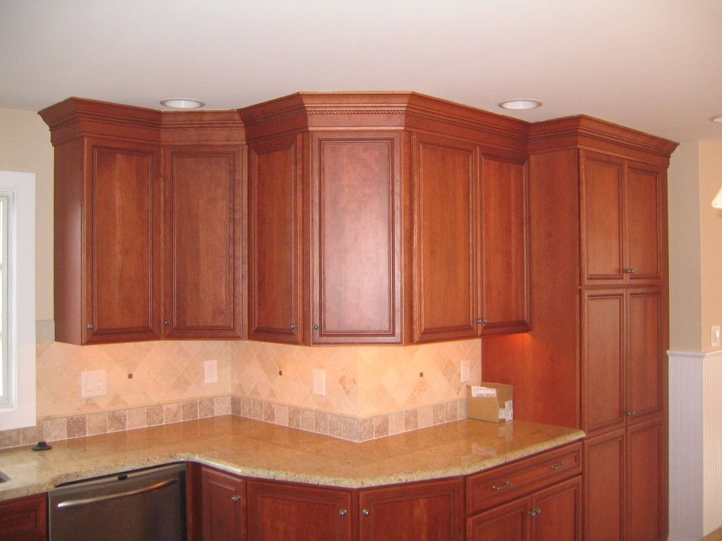 All the way to the top? | Kitchen cabinet molding, Kitchen ...