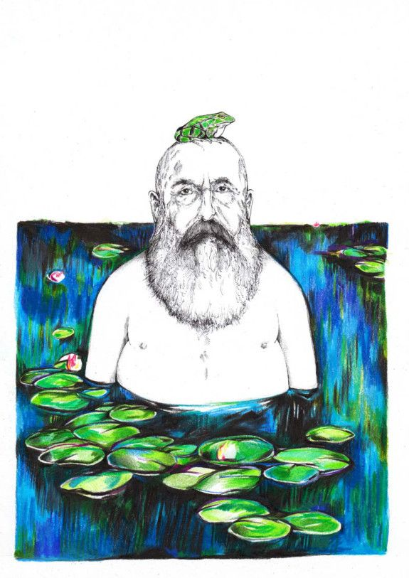 Claude Monet hat sie so richtig satt seine Seerosen │ jompitz