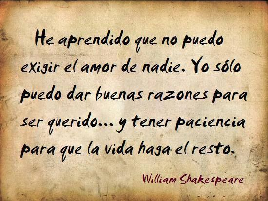 Frase Amor Shakespeare William Shakespeare Shakespeare Y