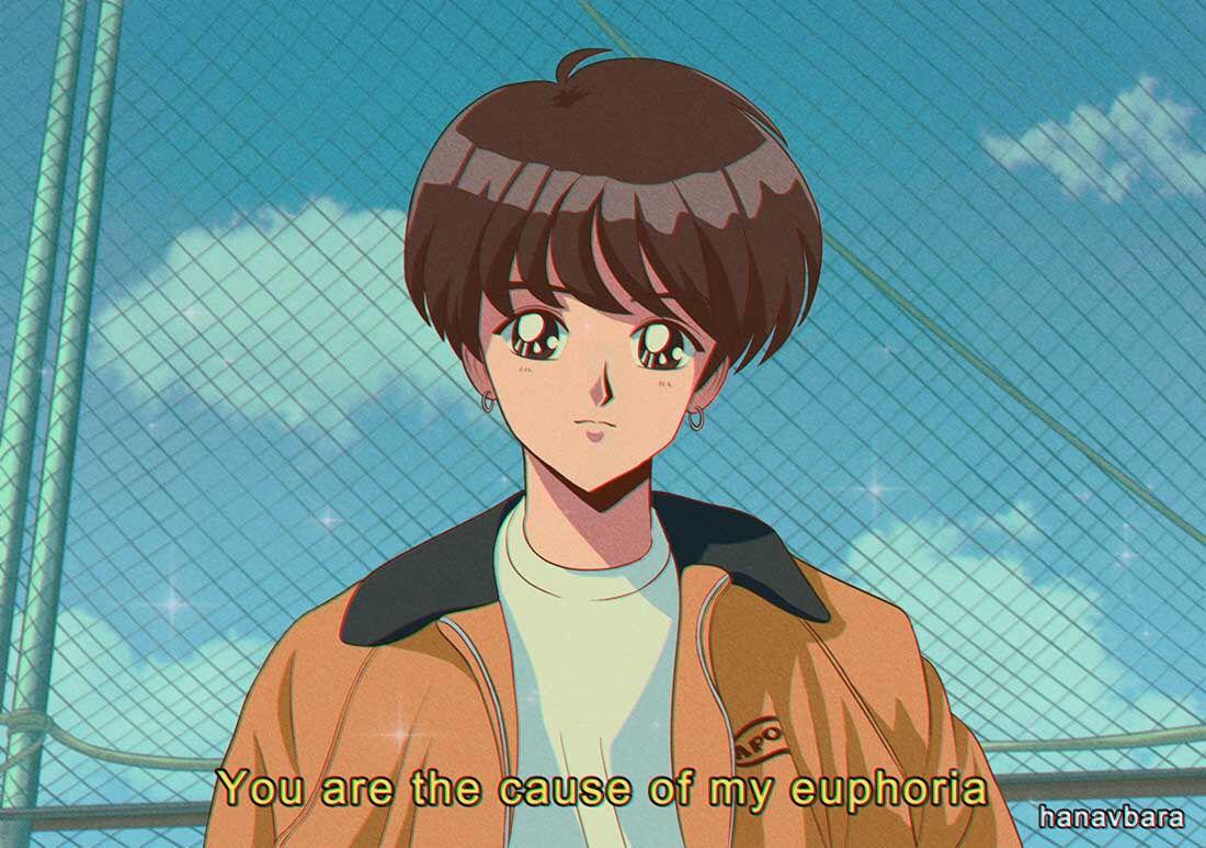 𝒃𝒕𝒔 𝒂𝒔 𝟗𝟎'𝒔 𝒄𝒂𝒓𝒕𝒐𝒐𝒏𝒔 90s anime, Anime, Aesthetic anime