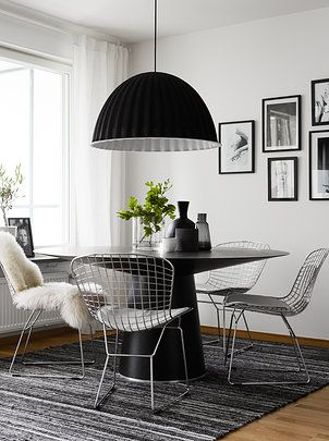 simple dining setting and oversized pendant! As it should be. Pella Hedeby | | Work