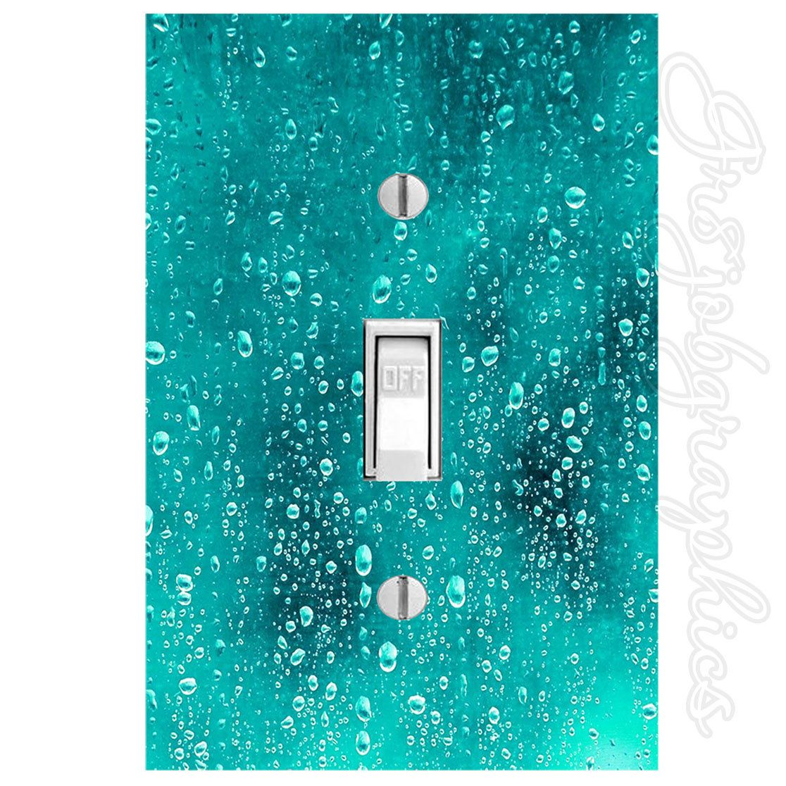 Plastic Light Switch Covers Light Switch Plastic Cover And Decal Water Droplets Cool Waterfall