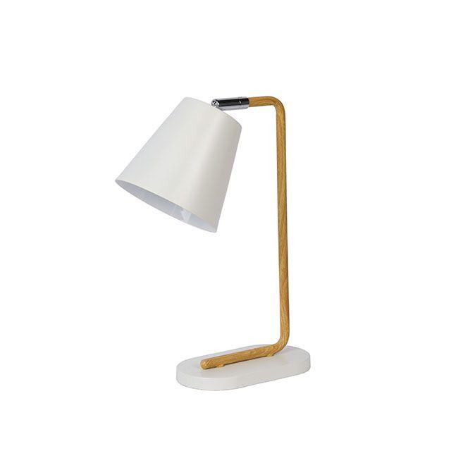 Lampe Cona Blanc Bois H 36cm 40w Castorama Lampe Decoration Lampe De Bureau Lamp