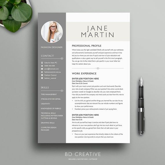 Boutique Resume Template 7 | Stylish, Modern, Creative, Professional ...