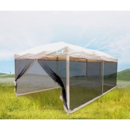 Quictent Ez Tan 10x20 Feet Pop Up Party Tent Canopy Commercial Gazebo Removable Mesh Side Wall With Carry Bag Walmart C Canopy Tent Outdoor Screen House Tent