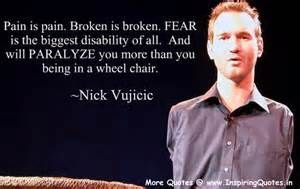 disability quotes inspirational   Fear will paralyze you