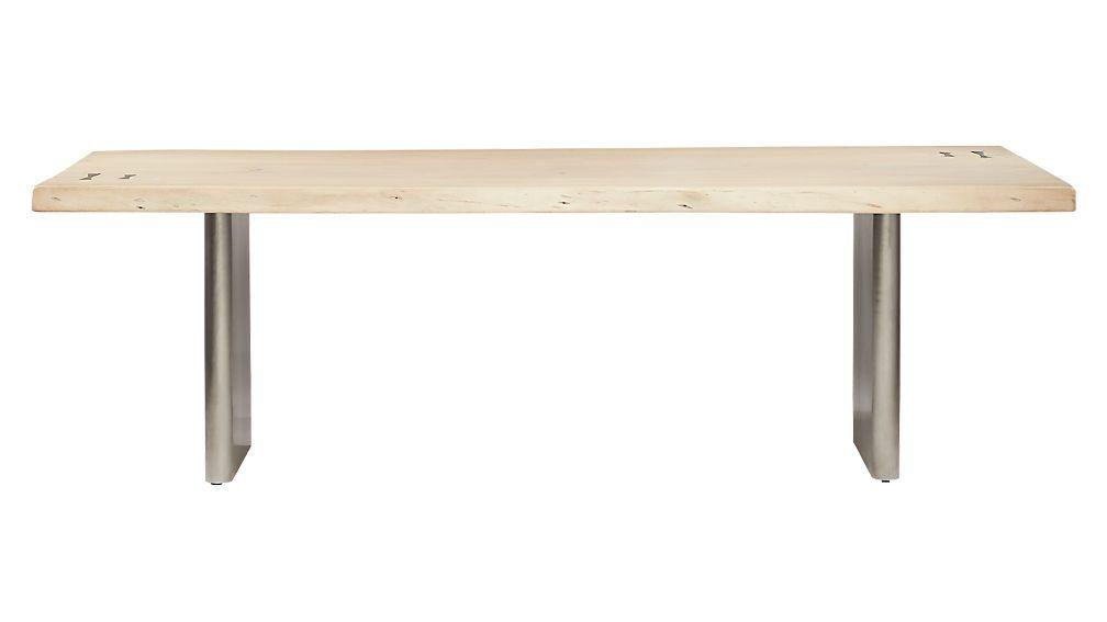 Landscape Live Edge White Washed Wood Dining Table Wood Dining Table Whitewash Wood Dining Table