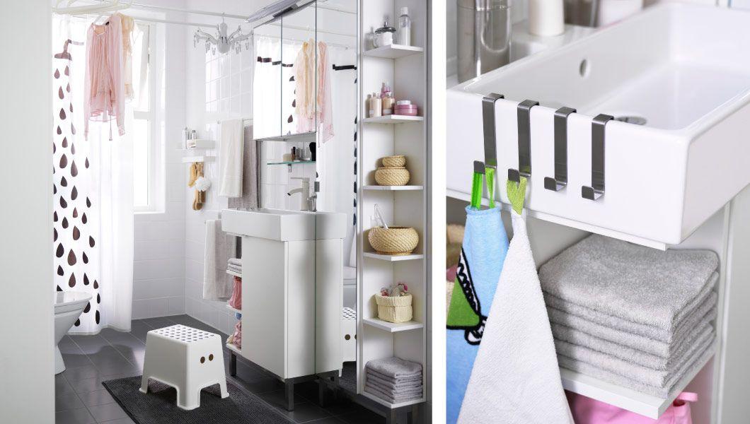 Großartig IKEA   Mit Einer Aufbewahrung, Die Den Raum Komplett Ausnutzt, Wird Auch  Ein Kleines Badezimmer Flexibel. Praktisch, Wenn Du Dein Bad Zum Beispiel  Auch Zum