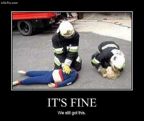 Police jokes about firefighters