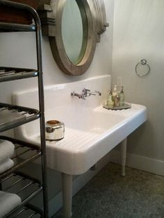 Farmhouse Style Trough Sink Bathroom   Google Search