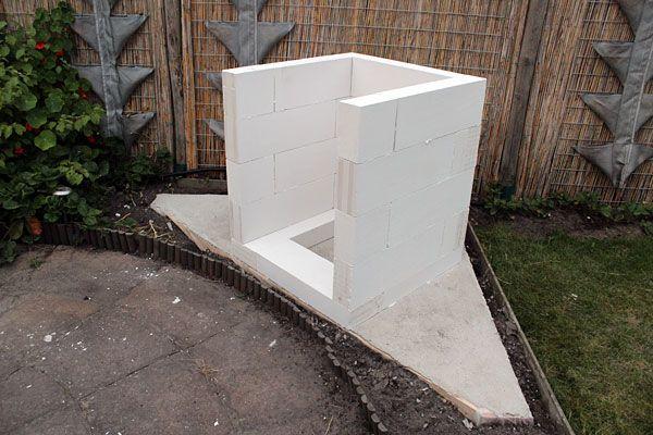 pizzaoven onderstel gemaakt van ytong blokken en azobe damwanden pizza oven natuursteen houtoven on outdoor kitchen ytong id=50444