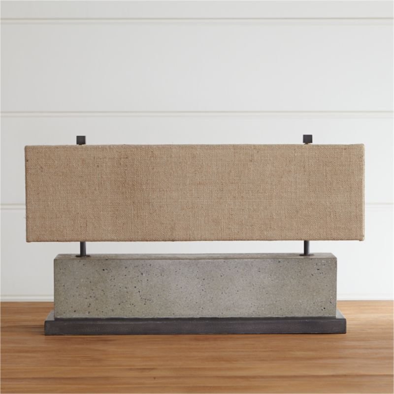 Norris Low Table Lamp Table lamp, Concrete table, Crate