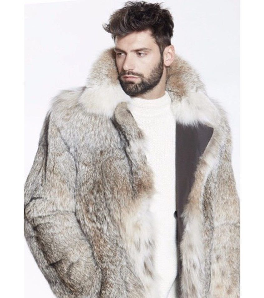 Fashion Men/'s Faux Shearing Fur Coat Leather Reversible Winter Jacket Outwear