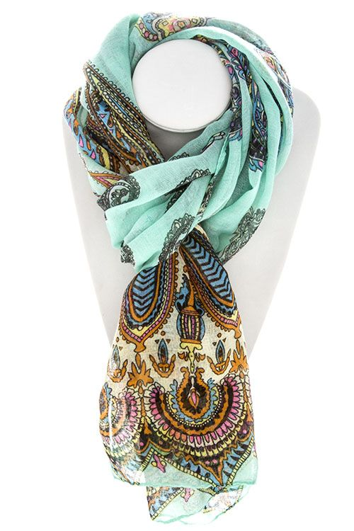 Scarf - Love the colors and patterns