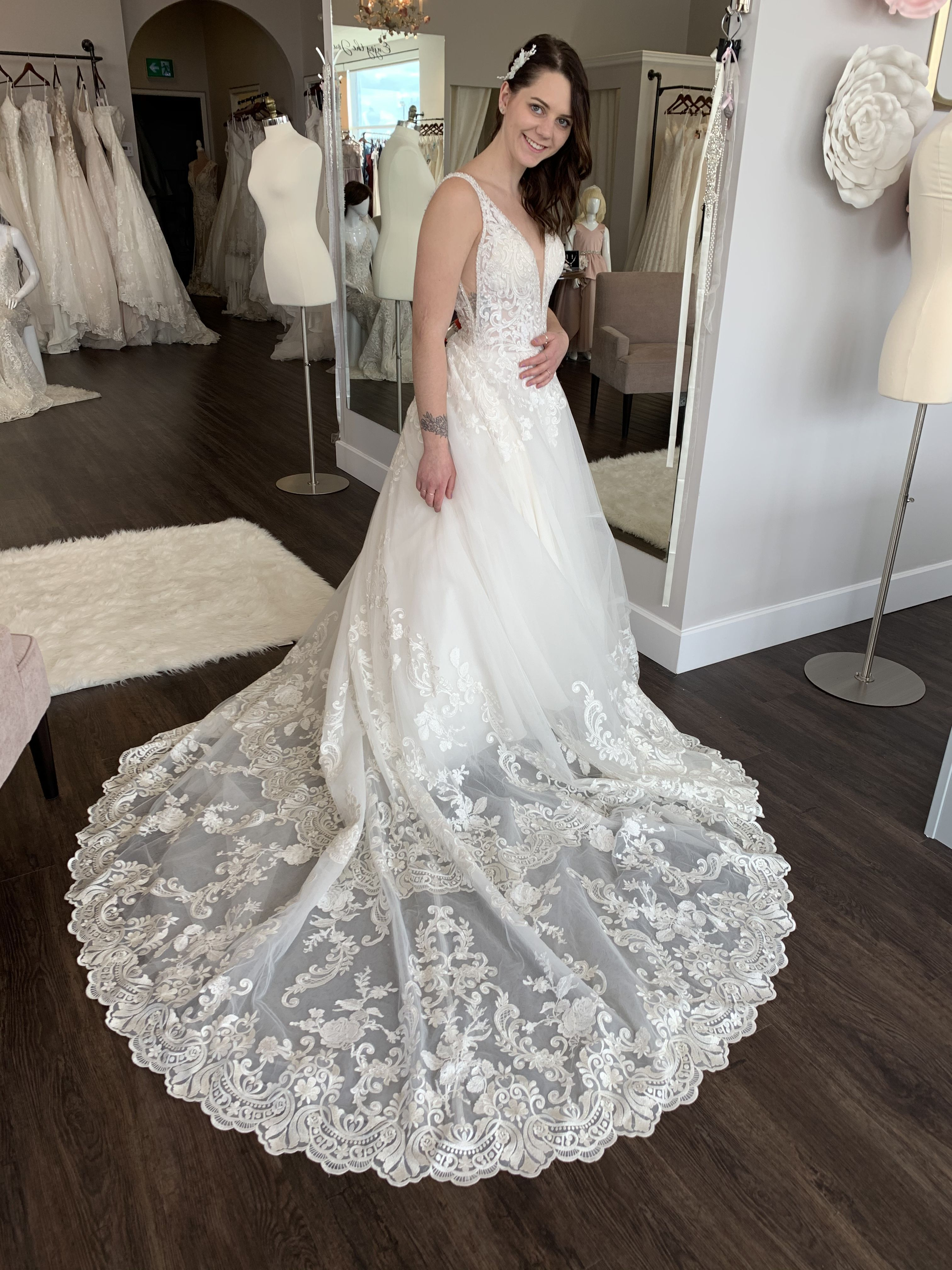 Wedding Dresses Lace Drop Waist Wedding Dresses Pink Wedding Dresses Modest Wedding Dresses [ 4032 x 3024 Pixel ]
