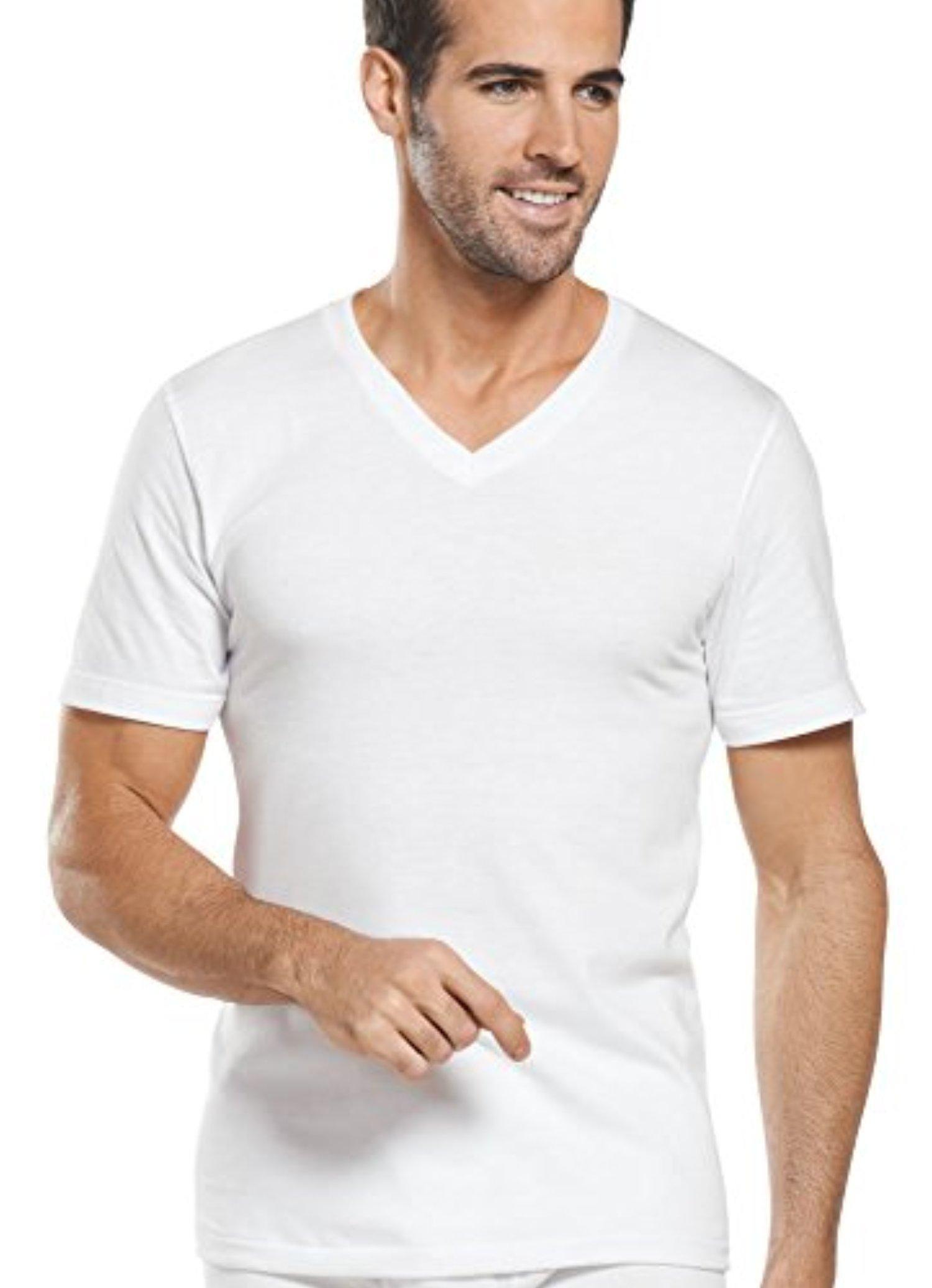 49b8638e Jockey Men's T-Shirts Big Man Classic V-Neck - 2 Pack, diamond white, 5XL -  Brought to you by Avarsha.com