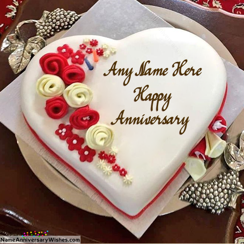 Best Ever Happy Wedding Anniversary Cakes With Name Happy
