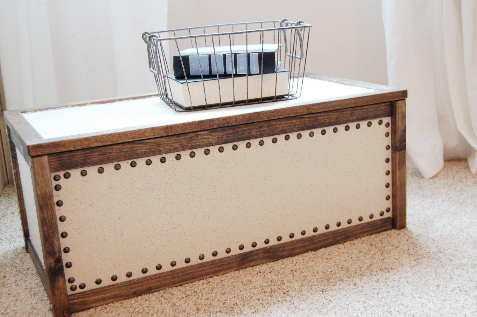 IKEA APA Storage Box 1499 Hack Wood Stained And Nailhead Trim Added