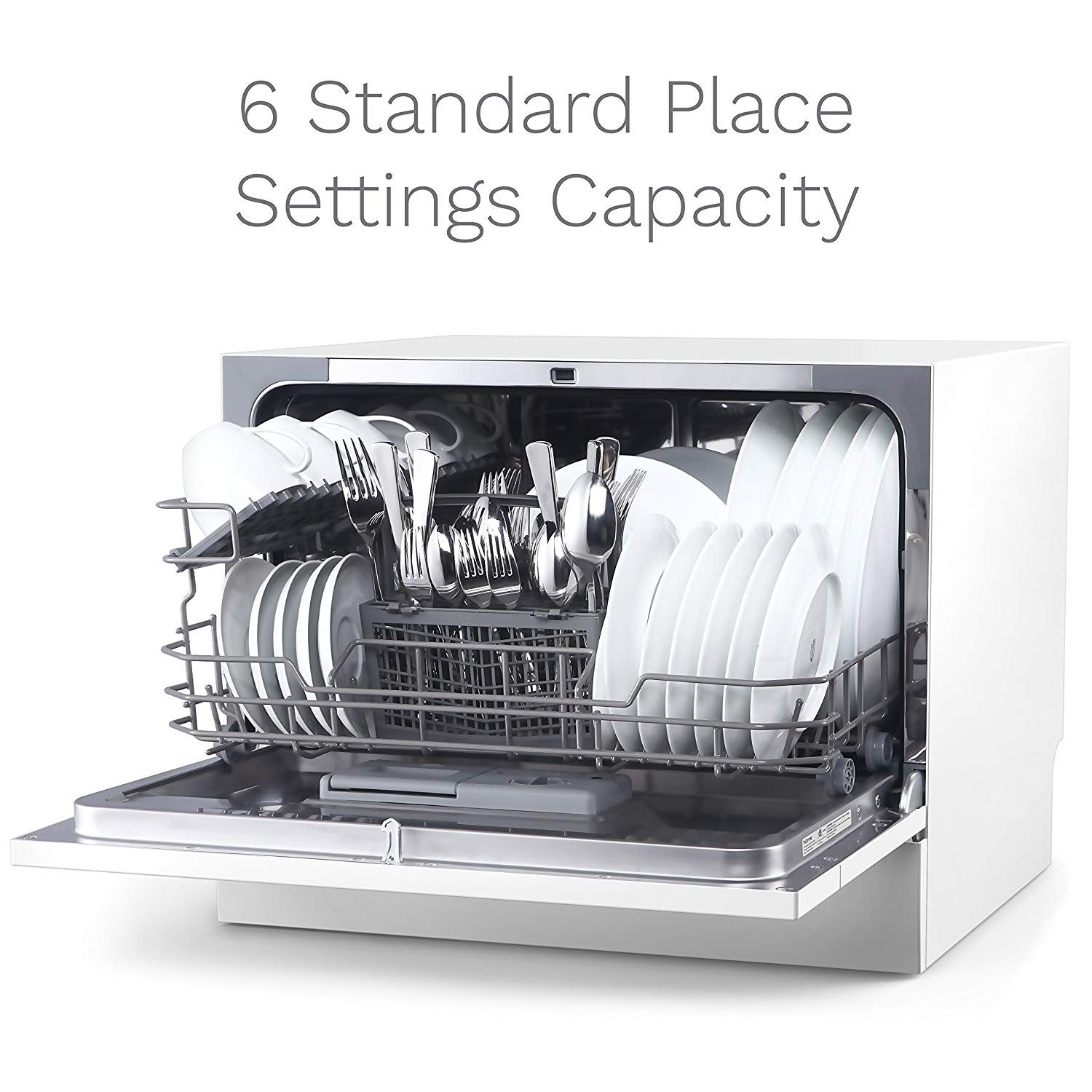 Homelabs Compact Countertop Dishwasher Portable Mini Dish Washer In Stainless Steel Interior For Countertop Dishwasher Best Dishwasher Small Apartment Office