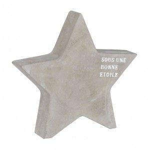 Etoile imitation béton GM - BELLE ETOILE : Jardin d\'Ulysse, vente ...