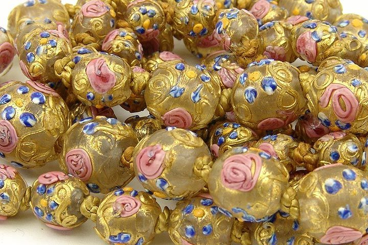 Antique Venetian glass Wedding Cake beads used in the Africa trade ...