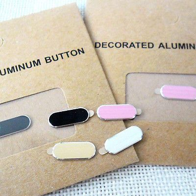 Details about Lot Home Button Metal Protective Sticker Case