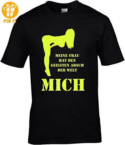 fun shirt spr che macho meine frau hat den geilsten arsch. Black Bedroom Furniture Sets. Home Design Ideas
