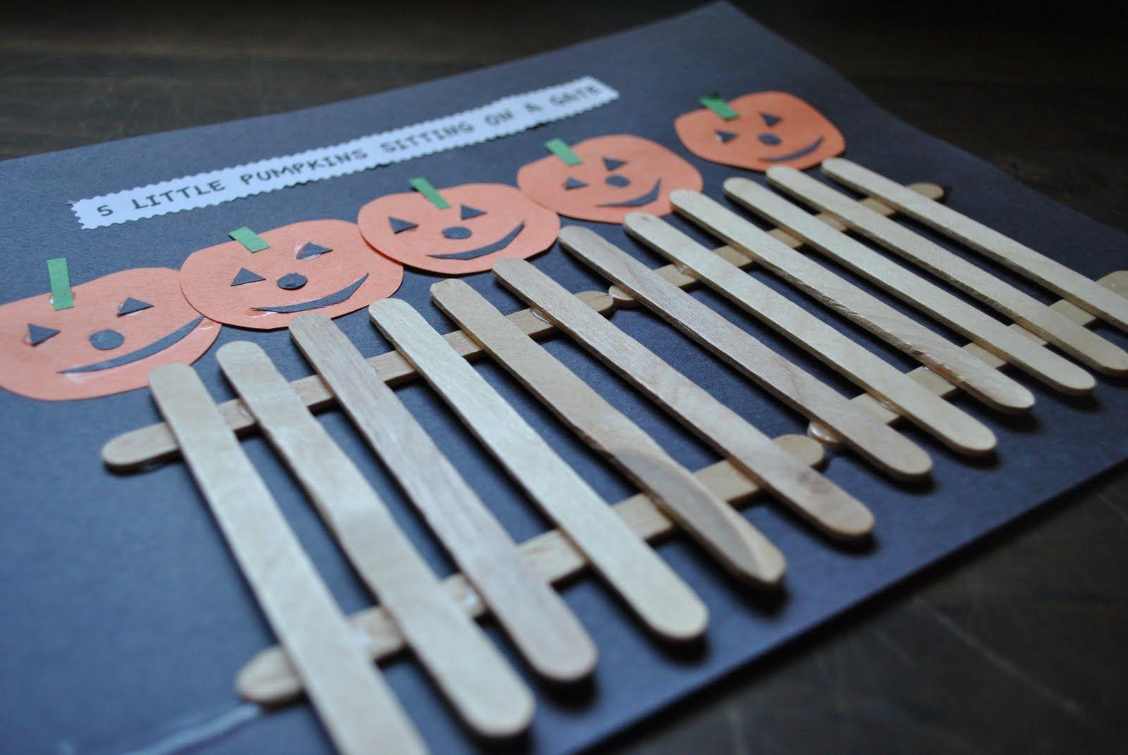 Five Little Pumpkin Craft