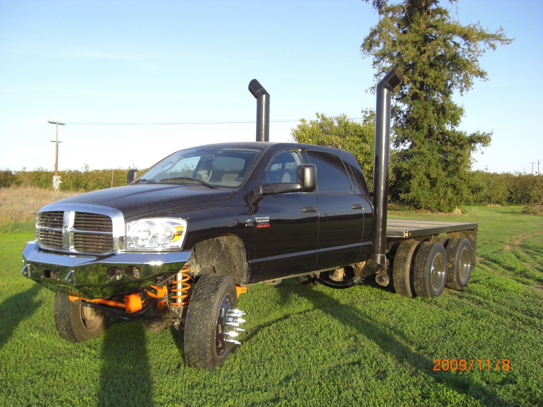 lifted dually trucks | Three Axle Peterbilt Dodge Mega
