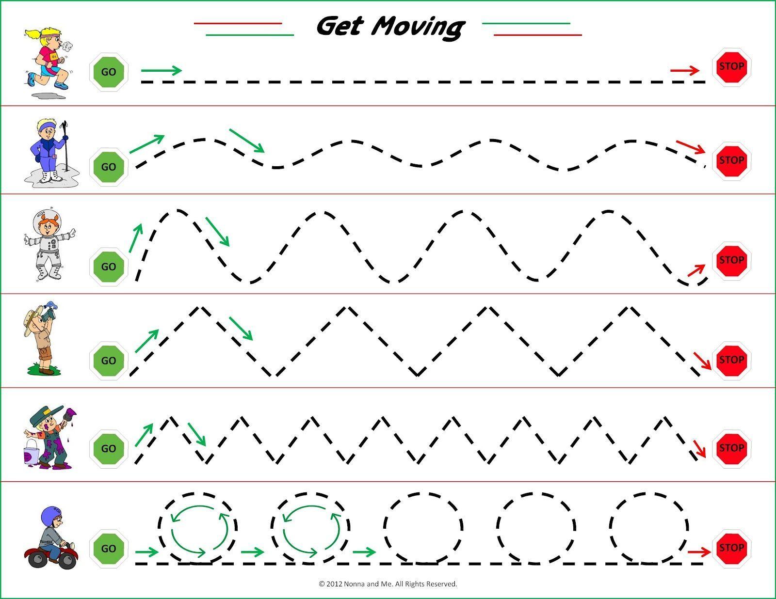 Visual Motor Tracing Worksheet Preschool Preschool